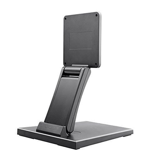 Fixed mount for touchscreens, POS, and PC monitors / 10–22 inches / Adjustable / Metal plate structure / Heavy product weight / VESA 100 & 75 / Table mount / Display stand