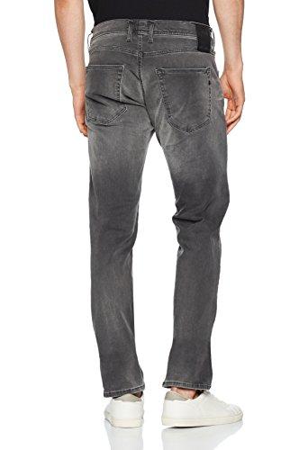 Replay Herren Straight Jeans Grover Hyperflex Grau (Grey Denim 9)