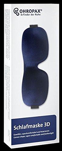Ohropax Schlafmaske 3D in Blau - Komfortable Augenmaske zum Schlafen - weich geschäumt und hautfreundlich