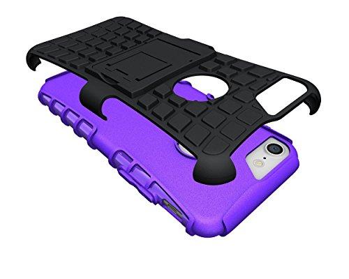 iPhone 8Coque, Apple iPhone 8Coque EAL® [fin], légers, Heavy Duty Tough Armour résistant aux chocs Coque avec béquille [Coque de protection] avec surfaces non Glissantes pour une excellente prise en violet