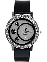 PIEXIM BF Black Colour Round Dial Analog Watch For Girls And Women