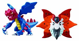 Tomy - T18047 - Pack 2 Mini Figurines - Volcarona vs Druddigon