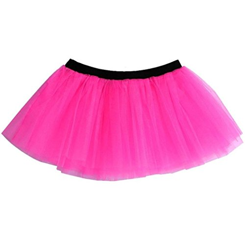 NEON TÜTÜ Rock Party Kostüm Teens, Damen...one size 80er (Neon (Tutu Neon Pink)