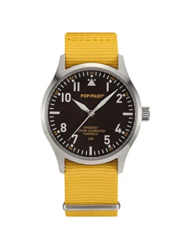 pop-pilot-unisex-jnb-quartz-watch-with-quartz-dial-analogue-display-and-brown-nylon-strap