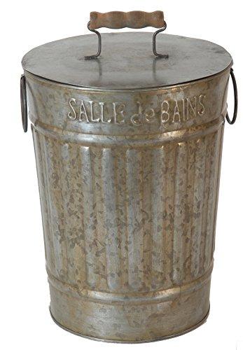 Poubelle salle de bain en zinc