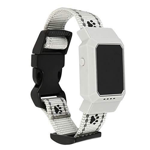 IP67 Wasserdichte Echtzeit Haustier Locator Kragen GPS GSM GPRS Tracker for Hunde Katzen Tracking Locator Heimtierbedarf Neu (Color : White) Gsm-led Handy