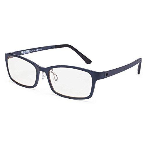 Babimax Gafas de Seguridad con Lente Ámbar Anti-Blu-ray Anti-reflejo Mirada Sorprendida de...