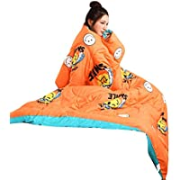 Saihui_Blankets & Quilts Edredón de Invierno con Mangas para Invierno, multifunción, cálido, Grueso, para Adultos, A, 150cmX200cm