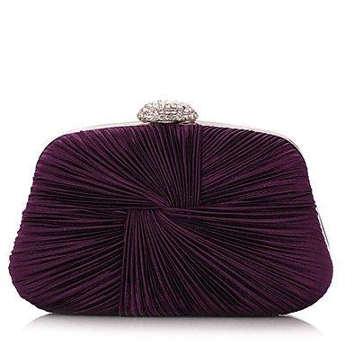 Frauen Seide und Satins Falten Abend Taschen Purple