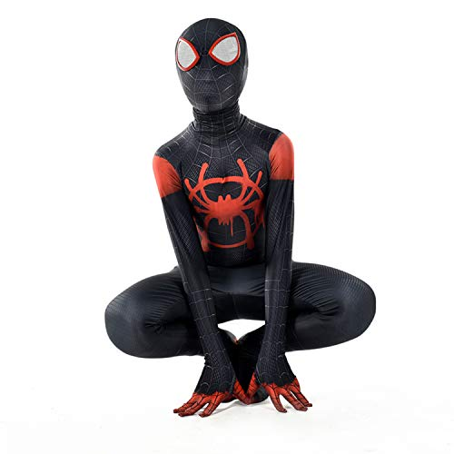 Collants siamois Cosplay de Halloween spiderman noir, impression 3D