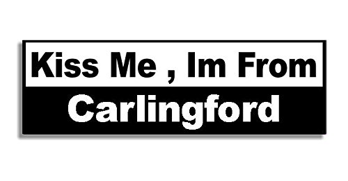 kiss-me-im-from-carlingford-car-sticker-sign-voiture-autocollant-decal-bumper-sign-5-colours-black