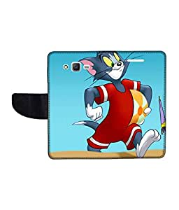 KolorEdge Printed Flip Cover For Samsung Galaxy J2 Multicolor - (1477-47KeMLogo09977SamJ2)