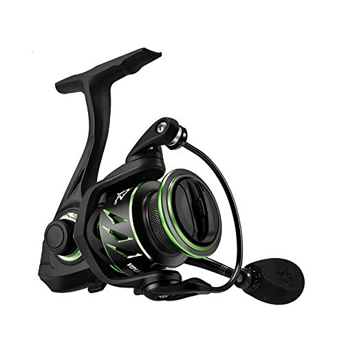 Angelrollen,Spinning Angelrolle,Viper Ii Spinning Reel 6.2:1 High Gear Ratio 10 +1 Kugellager Angelrolle 6kg Max Drag Ultra Leicht Spinning Angelrolle