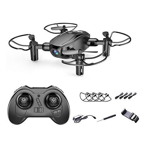 Drone Quadcopter Plegable Teledirigido WiFi Portátil con Cámara de Fotografía Aérea en Tiempo Real HD Cuatro Ejes Tamaño pequeño Fácil de Llevar Modo