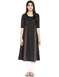 Rangmanch By Pantaloons Women's Rayon Straight Kurta