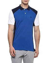 Ajile By Pantaloons Men's Plain Regular Fit T-Shirt (110028439008_Royal Blue_L)