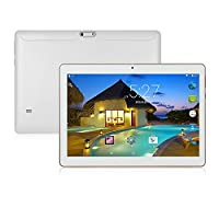 ibowin 10.1Inch 3G tablet PC MTK Quad core CPU Octa core GPU 1280x800 IPS 1G RAM 16G ROM 3G WCDMA 2100MHZ & 2G GSM 2SIM Cards WIFi Bluetooth GPS, UK 3PIN Plug - White