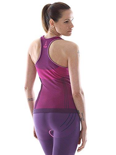 F-ALL - T-shirt de sport - Sans Manche - Femme Violet