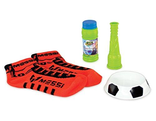 Messi - Foot Bubbles, Set di bolle di sapone con calzini, colore: Rosso