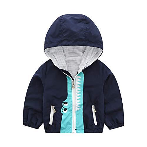 Bestyyo Kinder Jungen und Mädchen Cartoon Tier Kapuzenpullover Mantel Jacke Shirt Kapuzenjacken Mantel Kleinkind Kleinkind Baby Cartoon Tops Outfits (Marine, - Indien Kostüm Schmuck Sets