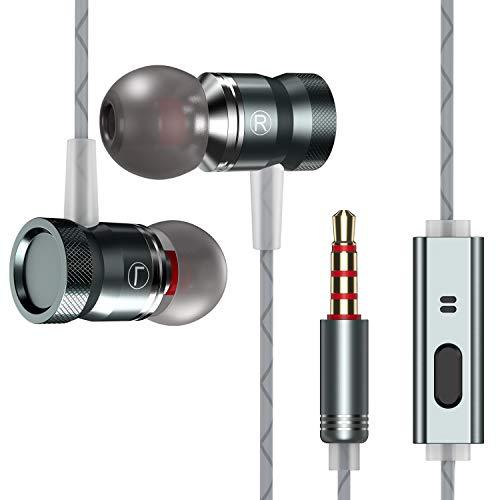 iPer In Ear Kopfhörer Ohrhörer inklusive Mikrofon Reißfest Anti-Fraktur für Smartphones Tablets MP3-Player ios und Android usw