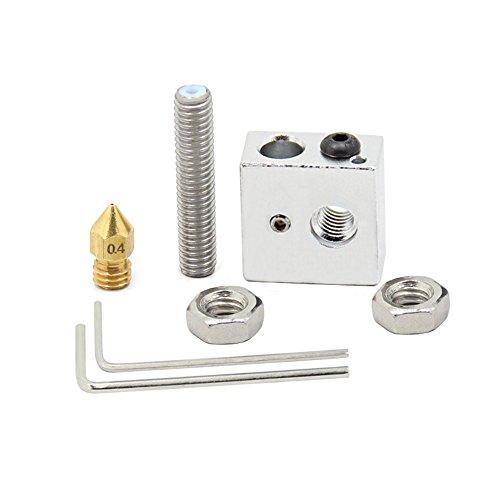 Redrex-Aluminium-MK8-Extrudeuse-Bloc-chaleur-avec-Buse-M6x30mm-gorge-Kit-pour-Prusa-Mendal-makerbot-Imprimantes-3D