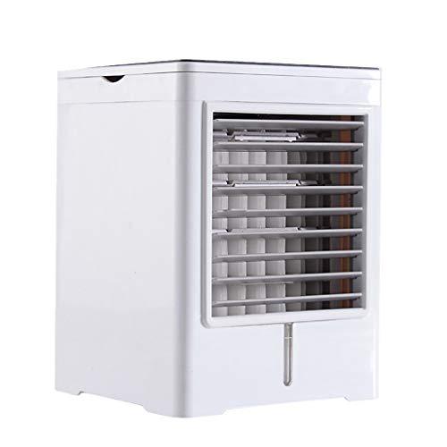 happy event Mobile Klimaanlagen, Mini-Luftkühlerlüfter mit Wasserkühlung Mobile Klimaanlagen Kalter Wind Luftbefeuchter Lautlos, 475 ml Wassertank 3-Gang Für das Büro zu Hause (Luftkühler)