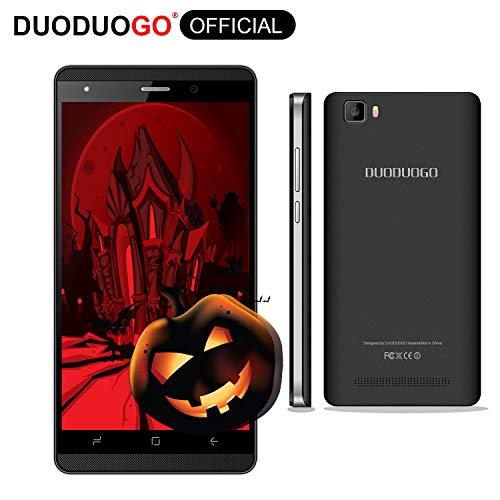Smartphone Libres 4G 5 Pulgadas Android 7.0 Quad Core 16GB(Escalable 32 GB) Telefono Movil Libres 2800mah Cámara Doble SIM WiFi BT Moviles Libres 4G DUODUOGO J3 + (Negro)