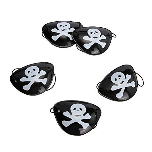 NUOBESTY 24 stücke Kinder Pirate Dress up Requisiten piratenkostüm Brille schädel Pirates Brille Tricky kostüm (schwarz)