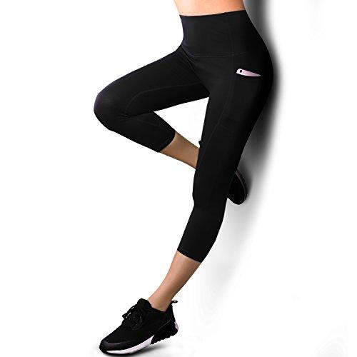 Legging Sport Femme,Femme Pantalon Yoga avec Poche,3/4...