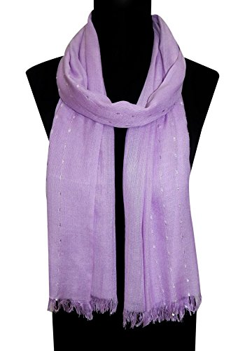 BOLLYWOOD ACCESSORY - Viscose fancy Scarf/Stole/Dupatta with Self fringes (Style no. BA1206L)