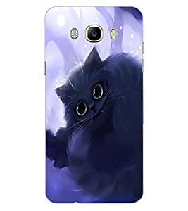 ColourCraft Cute Cat Design Back Case Cover for SAMSUNG GALAXY J7 DUOS (2016)