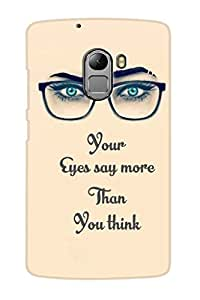 AMAN Eyes Say More 3D Back Cover for Lenovo K4 Note