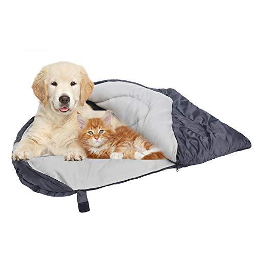 lesgos Hundeschlafsack, wasserdicht verpackbar Haustier Camping Bett, tragbare Outdoor weiche Erwärmung Hund Katze Mat Kissen für Reisen Camping Wandern Rucksackreisen