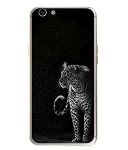 Fuson Designer Back Case Cover for Oppo F1s (Black And White Wildlife Forest Artist Man )