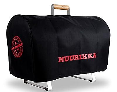MUURIKKA - Tischräucherofen aus poliertem Chrom-Edelstahl - 28 cm Durchmesser - SET mehrteilig