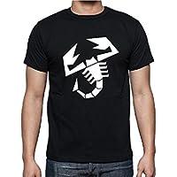 T-shirt maglietta Fiat Abarth - Colore Bianco - logo nero
