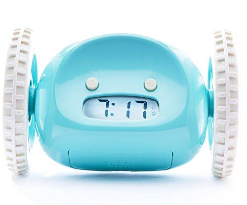 Nanda Home Clocky - El Original Despertador Fugitivo sobre Ruedas - color Turquesa
