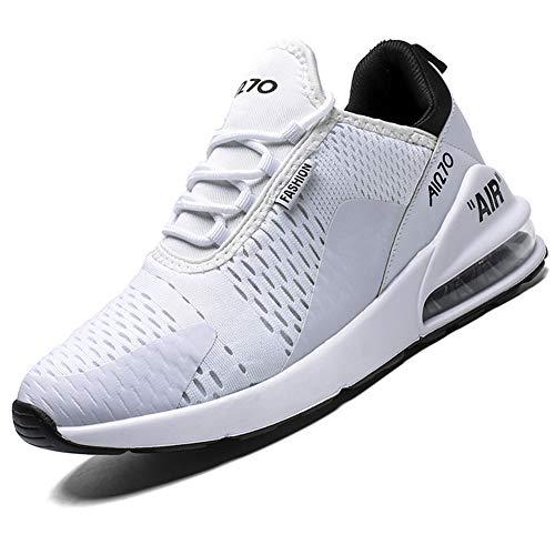Mabove Laufschuhe Herren Damen Turnschuhe Sportschuhe Straßenlaufschuhe Sneaker Atmungsaktiv Trainer für Running Fitness Gym Outdoor(Weiß/9670,43 EU)