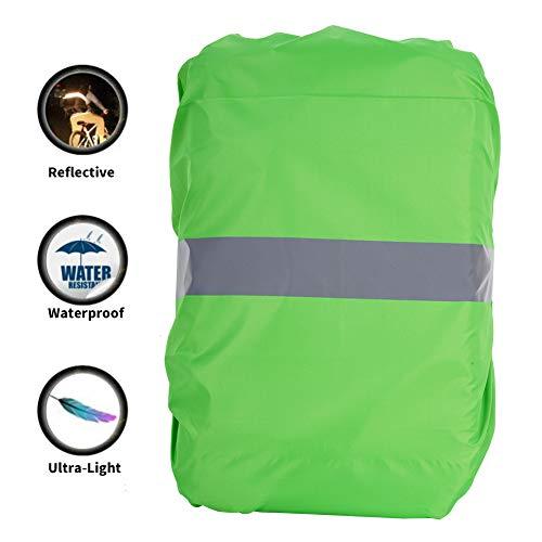 hellomagic Universal Wasserdichter Rucksack Regenschutz mit Reflektorstreifen für Wandern Camping Reisen Radfahren Outdoor-Aktivitäten S (25L) M (45L) L (60L)(L Grün)