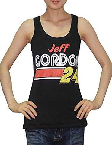 NASCAR Womens Jeff Gordon #24 Athletic Crew-Neck Tank Top (Vintage Look) L Black