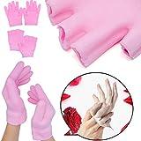 Sumifun, guanti idratanti per spa, da donna, senza dita, 2 paia, in gel con olio essenziale, fodera in gel termoplastico idratante, lozione per guarire la pelle secca durante la notte