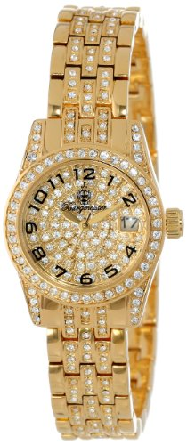 Burgmeister Diamond Star BM120-299 - Reloj de mujer de cuarzo, correa de acero inoxidable color oro