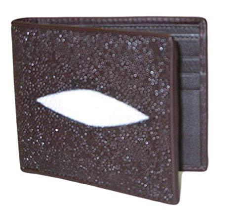 Drumsurn Imports Geldklammer aus echtem Stingray-Leder - Braun - Mittel - Herren Echte Stingray