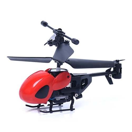 Malloom RC 5012 2Ch Mini RC Helicopter Radio Remote Control Aircraft 2 Micro Channels (Red)