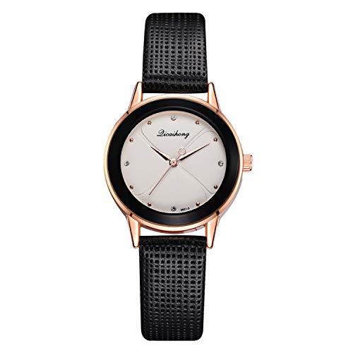 Bravetoshop Unisex-Armbanduhr, luxuriös, mit Strass-Zifferblatt, Kalender, Quarz, Goldfarben, Edelstahl schwarz
