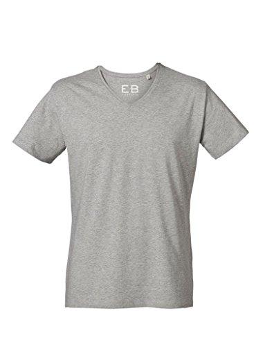 Everbasics Herren T-Shirt Sydney V-Ausschnitt - Funktionsshirt für tagelanges Tragen ohne Waschen - in Vielen Farben Erhältlich! Grau Meliert