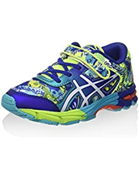 Asics Gel Noosa TRI 11PS [C604N 0701] - Zapatillas infantiles de color amarillo fosforito y blanco