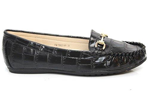 Mr Shoes , Mocassins femme Noir