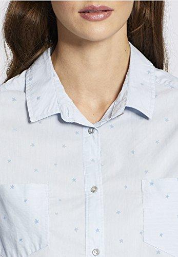 Khujo Chemisier - À Rayures - Manches Longues - Femme bleu à rayures